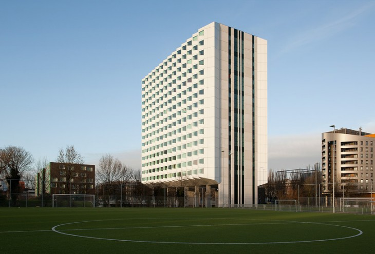 Student Housing TU Delft by De Zwarte Hond architects, Delft, NL