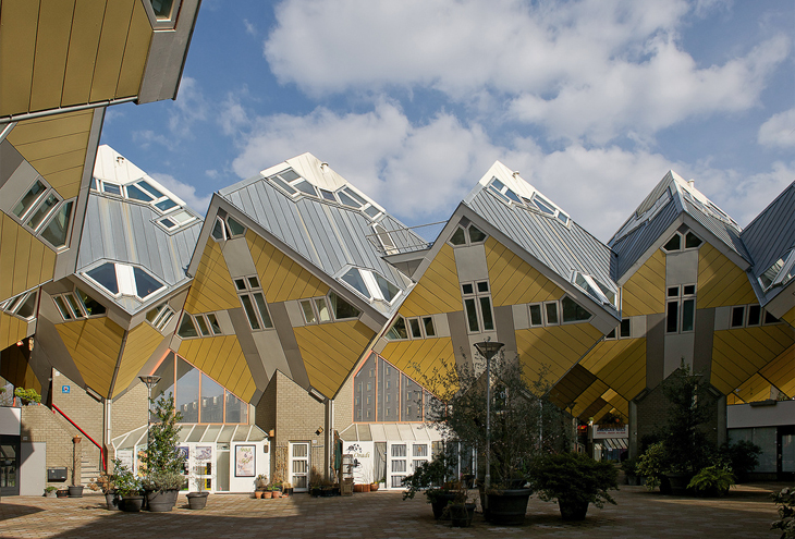 Cube Houses by Piet Blom architects, Rotterdam, NL