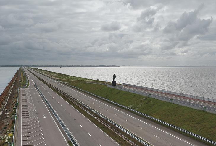 Afsluitdijk by Cornelis Lely, Den Oever, NL