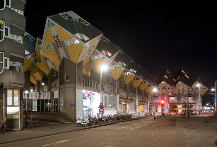 Blaakse Bos [Cube Houses] by Piet Blom, Rotterdam, NL