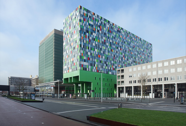 Smarties by Marlies Rohmer architects & urbanists, Uithof University Campus, Utrecht, NL