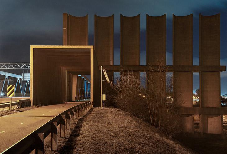Rotterdam Caland Bridge & Wind Shield by Maarten Struijs & Frans de Wit