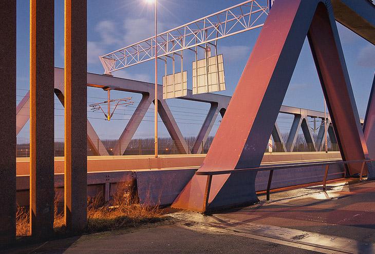 Rotterdam Caland Bridge by Maarten Struijs
